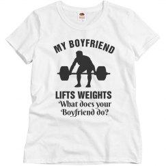 Boyfriend lifts weights
