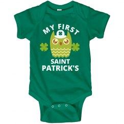 Babys First St Patricks Cute Owl