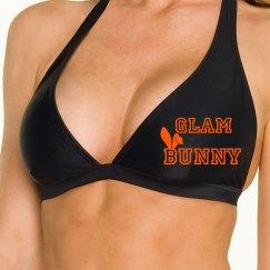 Orange Bunny ear GB Bikini Top