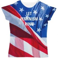 Patriotic Feminism Ring
