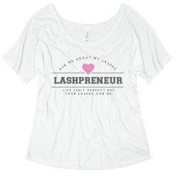 Lashpreneur Varsity Flowy Shirt