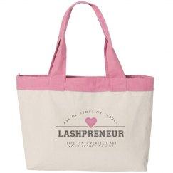 Lashpreneur Varsity Tote Bag