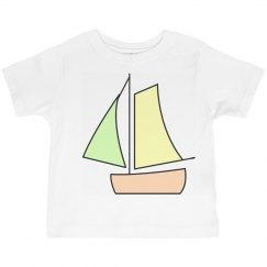 Cute Boat Kids Tee