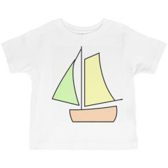 Cute Boat Kids Tee