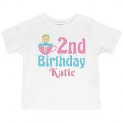 Cute 2nd Birthday Teacup Girl
