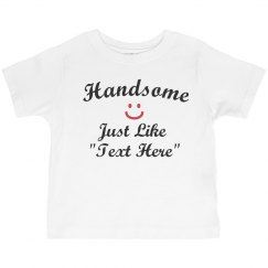Handsome like text here