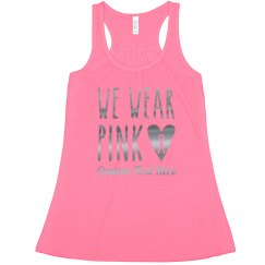 Custom Metallic We Wear Pink October Tank