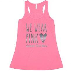 Custom Metallic We Wear Pink October Tank