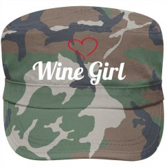 Wine Girl motorcycle hat