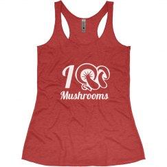I Love Mushrooms Tank Top