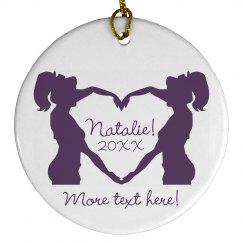 Cheerleader Ornament Gift