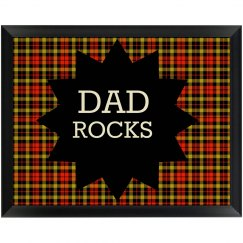 Dad Rocks Wall Plaque