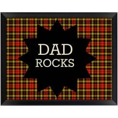Dad Rocks Wall Plaque