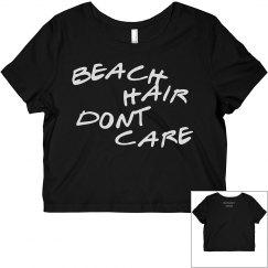 beach hair dont care crop top