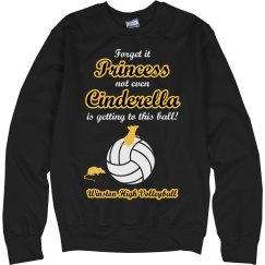 Funny Volleyball Princess Sweatshirt