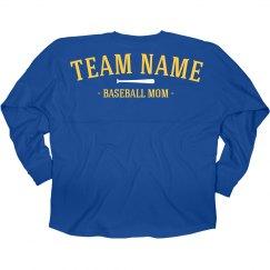 Team Name Baseball Mom Jersey
