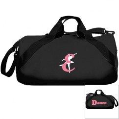 Monogrammed E dance bag