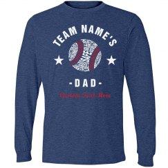 Custom Team Name Baseball Dad