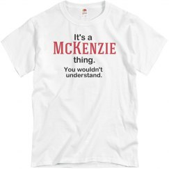 Its a Mckenzie thing