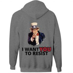 Uncle Sam I Want You To Resist Hoodie