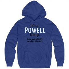 Its a Powell thing
