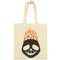 Halloween Ghost with Fire in Background Tote