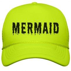 Neon Mermaid At The Beach