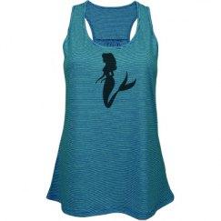 Mermaid racer back flowing shirt