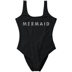 Mermaid Metallic Silver One Piece