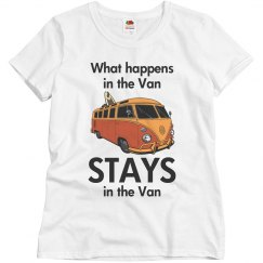 What happens in the van
