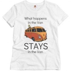 What happens in the van