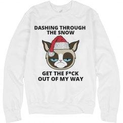 Christmas Sweatshirt Grumpy Cat