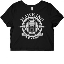 Hawkins A.V. Club Crop Top