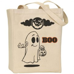 Halloween Boo Tote Bag With Ghosts