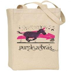 Purple Zebra's Tote