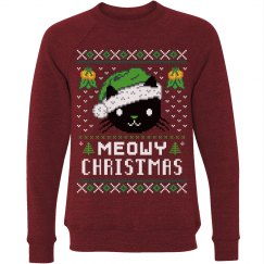Meowy Ugly Christmas Cat