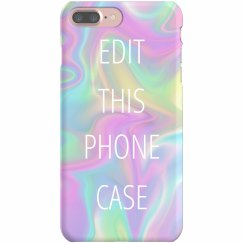 Custom Rainbow Pastel iPhone Case