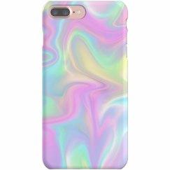 Hologram Print Pastel iPhone Case