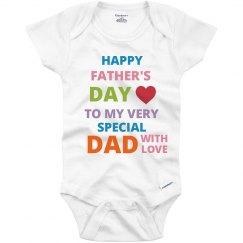 Happy Father's Day Onesies