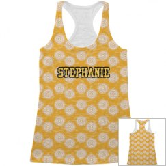 Yellow All Over Print Tank Top