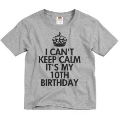 It's my 10th birthday