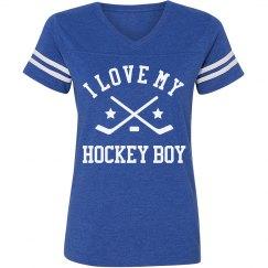 Hockey Mom Striped Shirt
