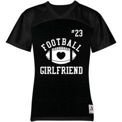 Cute Custom Football Girlfriend Shirt