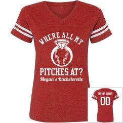 Funny Custom Baseball Bachelorette Party Tees