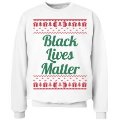 Gifts & Trees Black Lives Matter - Green on Red