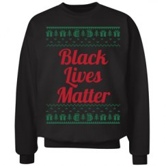 Gifts & Trees Black Lives Matter - Red on Green