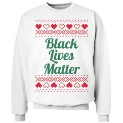 Hearts & Hugs Black Lives Matter - Green on Red