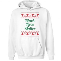 Hearts & Hugs Black Lives Matter Hoodie - Green on Red
