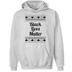 Hearts & Hugs Black Lives Matter Hoodie - Black Detail