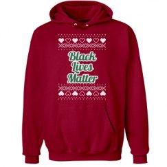 Hearts & Hugs Black Lives Matter Hoodie - Green/White